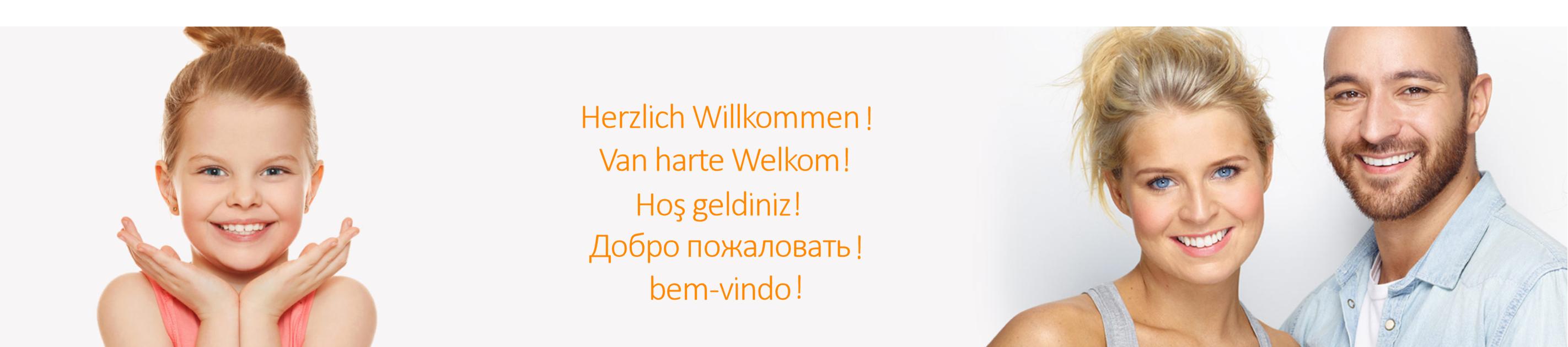 Banner mit Willkommen Kieferorthopäde Rene Müller Stadtlohn H